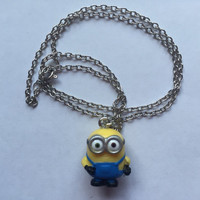 Minions Necklace - Minion Bob - repurposed toys