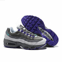 """NIKE"" Fashion Men Running Sport Casual Air max cushion Shoes Sneakers Grey Purple G-CSXY"