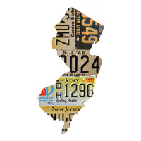 New Jersey License Plate wall decal