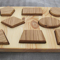 Wooden Puzzle, Puzzle for Babies and Toddlers, Montessori Toy, Waldorf Educational Toy, Toddler Development Wood Toy, Natural Wooden Toy