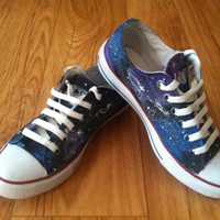Galaxy Converse Shoes by denimtrend on Etsy