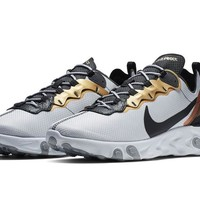HCXX 19Aug 132 Nike React Element 55 Metallic Gold CD7627-001 Casual Sports Running Shoes
