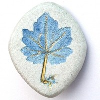 Handmade Jewelry - Blue Motherwort Pin