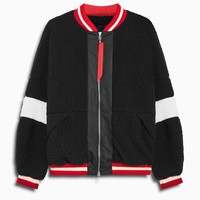 sherpa bomber v / black + ivory + red