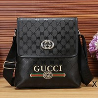 Gucci Women Men Fashion Leather Satchel Shoulder Bag Handbag Crossbody