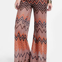 Pastime Chevron Bell Bottoms - $52.00 : ThreadSence, Women's Indie & Bohemian Clothing, Dresses, & Accessories