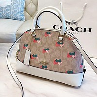 COACH Women Shopping Leather Handbag Tote Crossbody Satchel Shoulder Bag