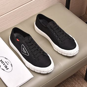 prada men fashion boots fashionable casual leather breathable sneakers running shoes 69