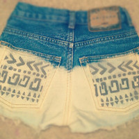 Made To OrderTribal Print High Waisted by HipsterLoveApparel