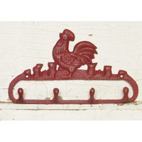 Rooster Wall Hook Rack - Choose Your Color - Colorful Cast and Crew