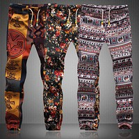 Trippy Tribal Joggers - Drawstring Sweatpants for Men