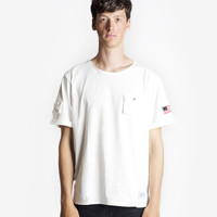 Cargo Pocket Tee in Off-White