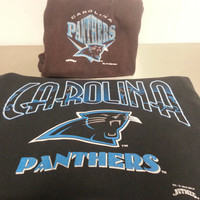 Vintage 90's Carolina Panthers Sweater and Sweatpants Size Small Sportswear Gym Outfit Made By Nutmeg NFL Football Made In USA