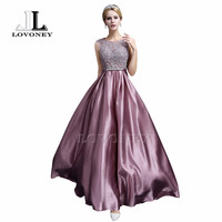 LOVONEY S306 Sexy See Through Plus Size Prom Dresses 2017 A-Line Floor-length Long Formal Dress Evening Gown Robe De Soiree