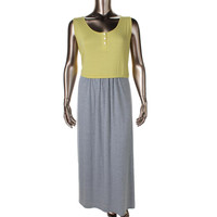 NY Collection Womens Jersey Colorblock Casual Dress