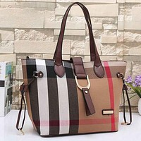 Burberry Women Leather Handbag Tote Satchel