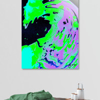 «Neon Green Purple Solar Borealis», Numbered Edition Aluminum Print by Alicia Jones - From $59 - Curioos