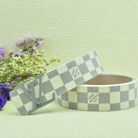 Cheap Louis Vuitton Woman Men Fashion Smooth Buckle Belt Leather Belt for sale q_2291738334_205