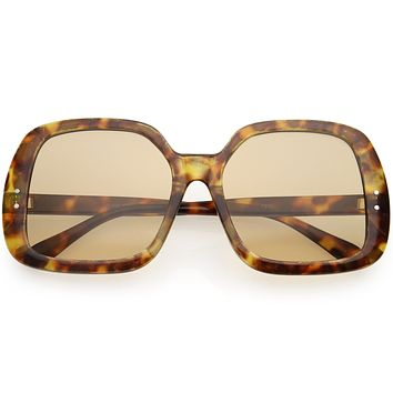 Glam Retro Fabulous Fashion Oversized Square Sunglasses D205