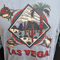 Retro Tourist Las Vegas Nevada Cactus T-Shirt XL