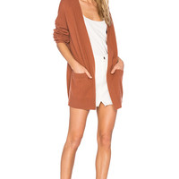 Vince Cashmere Cardigan in Fig | REVOLVE