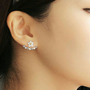 PREORDER! 925 Sterling Silver Daisy Ear Jackets