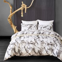 LFH Marbling Design Bedding Set Printing Duvet Cover With Pillow Cover Microfiber Beautiful Bedclothes Comfortable Quilt Cover