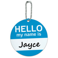 Jayce Hello My Name Is Round ID Card Luggage Tag