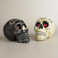 Jewel Eye Skulls, Set of 2 - World Market