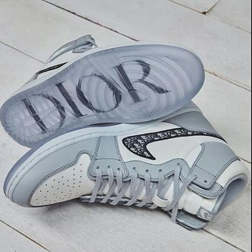 Dior x Air Jordan 1 NIKE New Hot Sale Men's and Women's High-Top Sneakers shoes