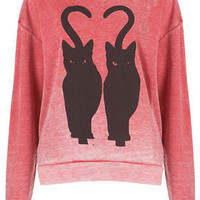 Twin Cat Burnout Sweat - New In This Week  - New In
