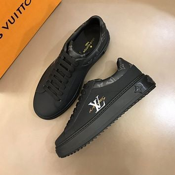 LV Louis Vuitton BEST QUALITY Men's And Women's Leather Low Top Sneakers Shoes