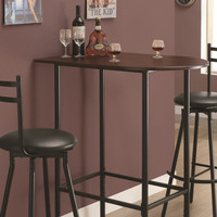 35.75 in. Space Saver Bar Table (Cappuccino and Black)