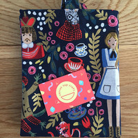 Alice in Wonderland (Navy) Canvas Tote Bag and Makeup Bag Combo - Rifle Paper Co. (Free UK P&P)