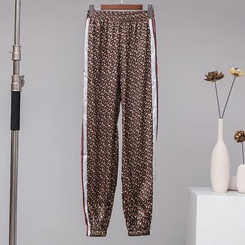 BURBERRY Fashion Print Pants Trousers Sweatpants