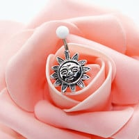 Belly button ring,Sun belly ring,Friendship belly ring,Celestial belly ring
