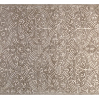 One Kings Lane - The Complete Bedroom - Curtain Rug, Gray