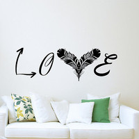 Arrow Decals Feather Wall Decal Rustic Bedroom Home Decor Stickers Boho DS378