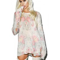 OLD FLORALS VENICE CANAL SWEATER