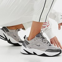 Nike M2K Tekno New fashion hook couple running shoes Gray