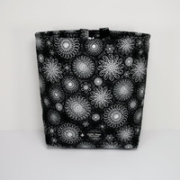 Quilted Auto Trash Bag / Car Trash Bag / Car Accessories / Car Organizer with Adjustable Strap, Buckle and Vinyl Lining