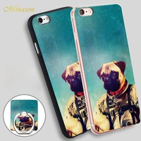 Minason pug dog a point to prove Mobile Phone Shell Soft TPU Silicone Case Cover for iPhone X 8 5 SE 5S 6 6S 7 Plus