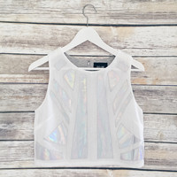 Holographic Pieces Tank