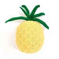 Organic Pineapple Baby Rattle