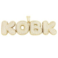 Sterling Silver Custom Bubble Letters with Solid Back