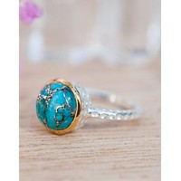 Julie Copper Turquoise Ring (BJR021) Fair Inventory