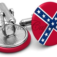 Confederate Flag Cufflinks