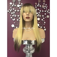 Blond ombre full wig #4