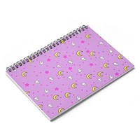 Usagi Sailor Moon Inspired Spiral Notebook - Ruled Line