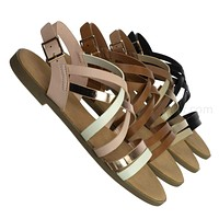 Hippie61 Comfort Gladiator Strappy Sandal - Women Sling back Summer Shoe
